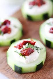 cucumber canapes cucumber canapés with feta sun dried tomatoes and basil