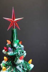 Glass Bulbs For Ceramic Christmas Tree by Vintage Green Lighted Ceramic Box Christmas Tree