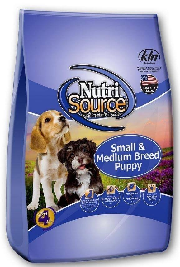 NutriSource Small & Medium Breed Puppy Chicken & Rice 5 lbs | Dog Food