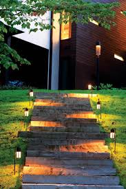 Outdoor Path Lighting Garden On Slope Unique Solar Led Landscape Ideas Design Amp Decors New