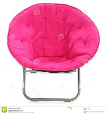 Individual Hot Pink Fuzzy Fabric Foldout Chair Over White Background