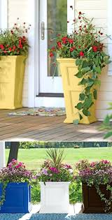 Patio Ideas ~ Patio Container Planting Ideas Best Patio Flower ... Painted Flower Pots For The Home Pinterest Paint Flowers Beautiful House With Nice Outdoor Decor Of Haing Creative Flower Patio Ideas Tall Planter Pots Diy Pot Arrangement 65 Fascating On Flowers A Contemporary Plant Modern 29 Pretty Front Door That Will Add Personality To Your Garden Design Interior Kitchen And Planters Pictures Decorative Theamphlettscom Brokohan Page Landscape Plans Yard Office Sleek