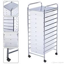 2018 10 Drawer Rolling Storage Cart Scrapbook Paper fice School