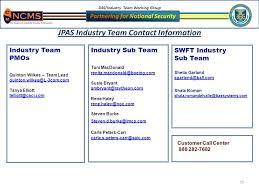 dss industry team working group 1 jpas updates steven burke