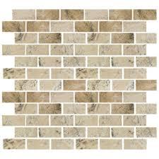 florida tile pietra travertine mosaic 1 x 2 picasso