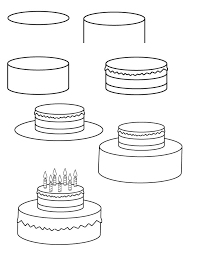 Drawing birthday cake Learn how to draw a birthday cake with simple step by step instructions The Drawbot also has plenty of drawing and coloring pages