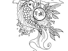 Chinese New Year Koi Fish Coloring Pages