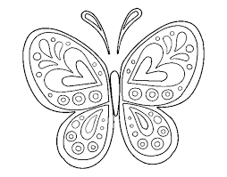 Butterfly Coloring Pages Page Free Drawing
