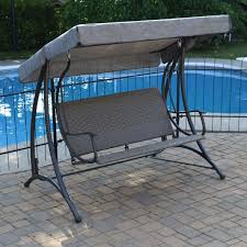 Patio Swings With Canopy by Deluxe Patio Swing Daybed With Canopy Costco Modern Patio