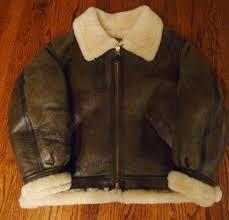 vintage avirex b3 leather u0026 shearling flight bomber jacket size 44