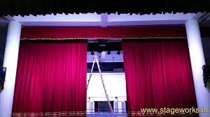 Motorized Curtain Track India by Www Stageworks In Youtube