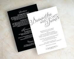 Elegant Simple White Wedding Invitations Or Black And For A Invitation