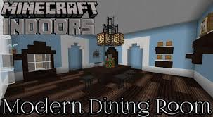 Modern Dining Room In Blue Minecraft Indoors Interior Design More 5 Excellent