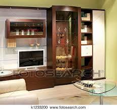 wohnzimmer wandschrank stock bild k1233200 fotosearch
