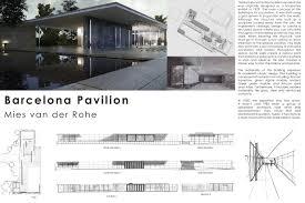 100 Barcelona Pavilion Elevation On Behance