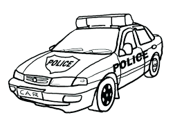 Coloring Pages Of Cars And Trucks Free Police For Kid