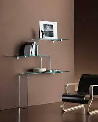 glasregale design im wohnzimmer arredare moderno