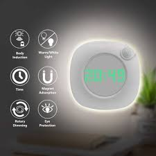 led pir motion sensor nachtlicht mit zeit uhr für home