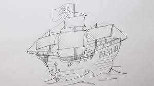 100 Design A Pirate Ship How To Draw A Pirate Ship