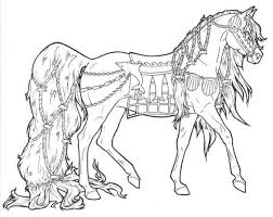 Animal Coloring Pages On Horse Barbie