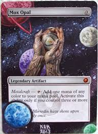 Mtg Mycosynth Golem Deck by Altered Mox Opal Google Search Magic The Gathering Pinterest