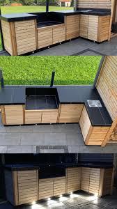 outdoor küche outdoor grill outdoor küche holzhaus garten