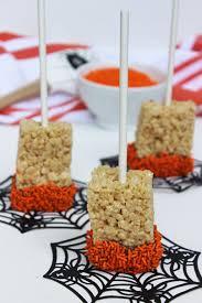 Rice Krispie Halloween Treats Spiders by Halloween Halloween Rice Krispie Treats Brainshalloween Recipe