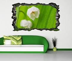 3d wandtattoo maiglöckchen blume weiß blumen grün selbstklebend wandbild wandsticker wohnzimmer wand aufkleber 11o747 wandtattoos und leinwandbilder