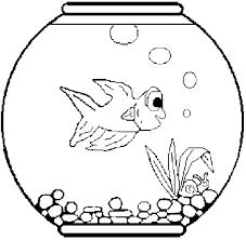 Fish Bowl Free Fishbowl Coloring Pages Clip Art