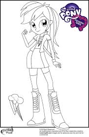 Rainbow Dash Coloring Page Meet A Supporting Character From My Little Pony Equestria