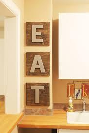 Kitchen Decor With Diy Eat Letters