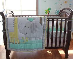Elephant Giraffe Baby Bedding Set Cot Crib Bedding Set for Girls