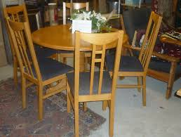 essecke tisch rund 5 stühle set hochlehner massiv holz