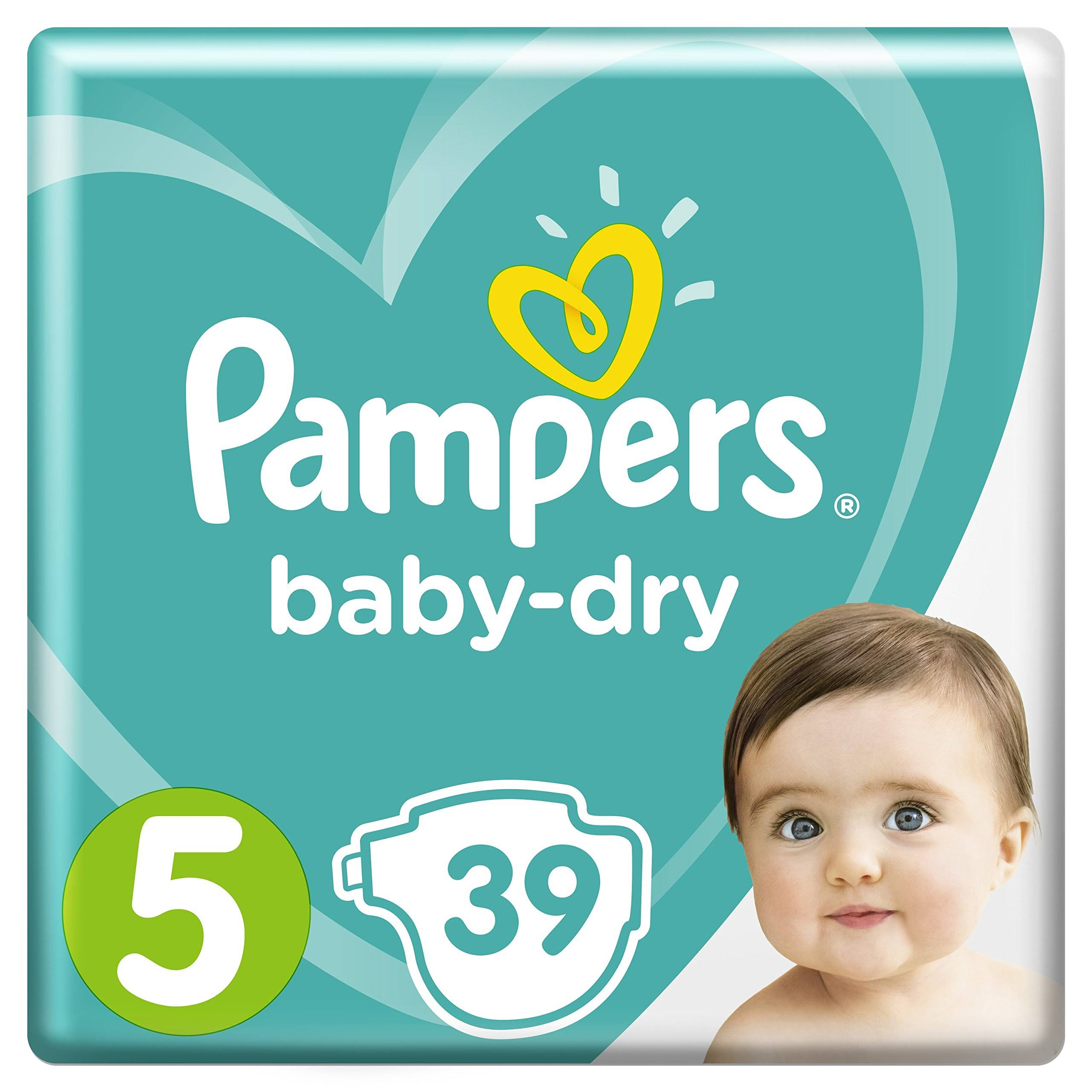 Pampers Baby Dry Essential Pack - Size 5, 39 Nappies, 11 to 16kg