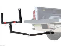 titan truck bed extender carrier for 2 trailer hitch receiver hauler