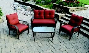 Menards Patio Furniture Cushions by Backyard Creations Orchard Valley 4 Piece Deep Seating Patio Set