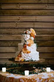 Burnt Orange Rustic Elegant Wedding Cake
