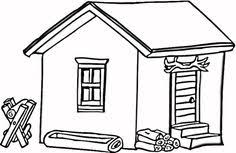 Log Cabin In Wood Coloring Page From Houses Category Select 20946 Printable Crafts Of