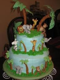 Jungle Animals Baby Shower Cakes