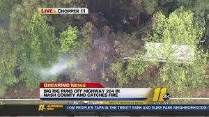 Truck Driver Killed In Fiery Hwy 264 Crash   Abc11.com