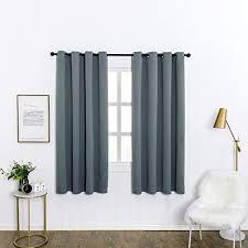woltu vh5904dg 2 2er set gardinen vorhang blickdicht mit ösen 250g m schwere verdunklungsvorhänge thermovorhang lichtdicht für wohnzimmer