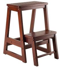 Wooden Folding Step Stool In Step Stools