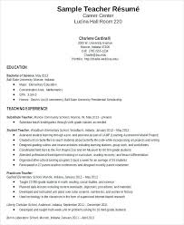 Example Resume Teacher Kindergarten Unique Education Examples Of Resumes