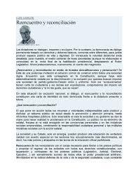 El Nacional Reencuentro Y Reconciliación Rights Resources