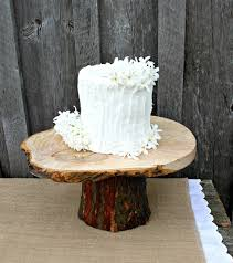 Rustic Wedding Cake Stands Photo