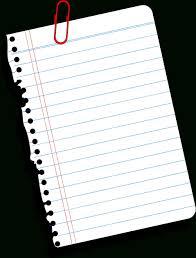 Notebook Paper Transparent Background World Of Label Blank 2018