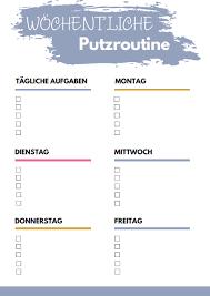 putzplan bunt 9 checklisten feelgoodmama elopage