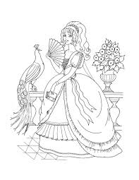 Simple Princess Coloring Pages Free From