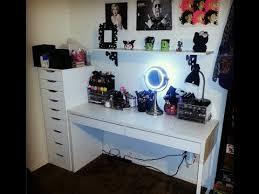 Makeup Vanity Tour Ikea Micke Desk