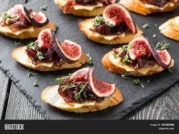 canapes aperitif canape crostini toasted baguette image photo bigstock